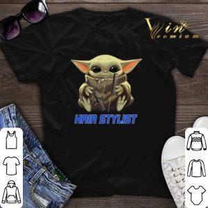 Baby Yoda hug Hair Stylist Star Wars Mandalorian shirt sweater