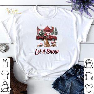 Christmas Santa Boxer Let It Snow shirt