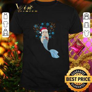 Cool Christmas Mermaids Santa Hat & Reindeer Antlers Gift shirt