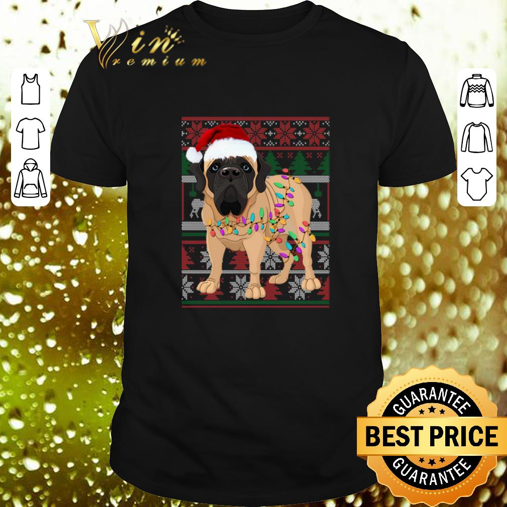 English Mastiff Ugly Christmas Sweater