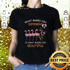 Cool Flamingos Houston Astros what makes you different you beautiful shirt