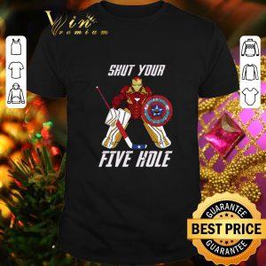 Cool Iron Man Shut your Five hole shirt