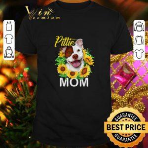 Cool Pillie staffordshire Mom sunflowers shirt