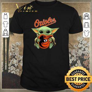 Funny Baby Yoda hug Baltimore Orioles Star Wars Mandalorian shirt sweater