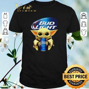 Funny Baby Yoda hug Bud Light Budweiser Star Wars Mandalorian shirt sweater