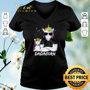 Funny Christmas Dadacorn Unicorn Dad And Daughter shirt