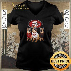 Funny German Shepherd dogs San Francisco 49ers shirt sweater