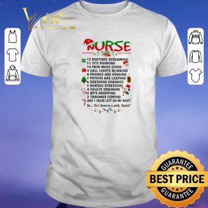 Funny Nurse Santa doctors screaming i've running pain meds given shirt sweater