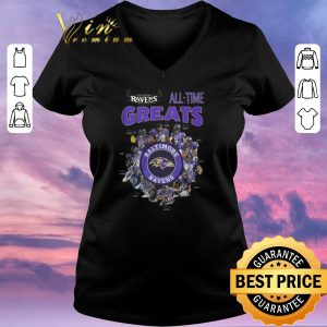 Funny Signatures Baltimore Ravens All-time Greats shirt