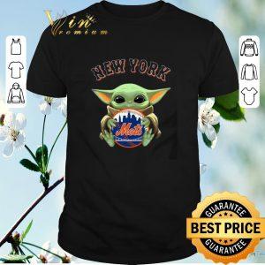 Funny Star Wars Baby Yoda Hug New York Mets shirt