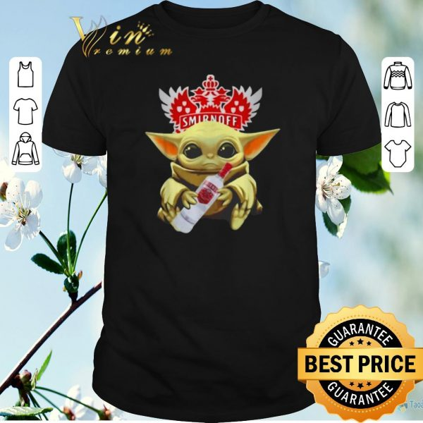 Funny Star Wars Baby Yoda Hug Smirnoff Vodka Mandalorian shirt sweater