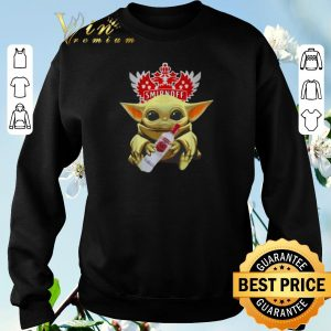 Funny Star Wars Baby Yoda Hug Smirnoff Vodka Mandalorian shirt sweater 2