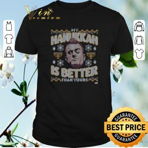 Funny ugly christmas mjf my hanukkah is better than yours sweater