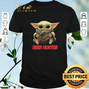 Hot Baby Yoda hug Deer Hunter Star Wars Mandalorian shirt sweater