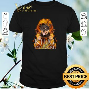 Hot Game Of Thrones Rottweiler King of my heart shirt
