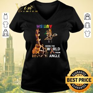 Hot Giraffe Autism seeing the world from different angle shirt sweater