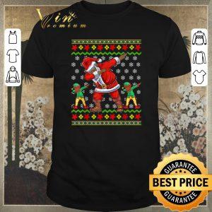 Hot Ugly Christmas African American Dabbing Santa Elf sweater