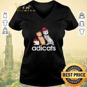 Nice adidas adicats cartoon cat shirt