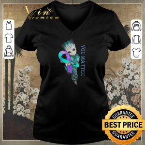 Official Baby Groot Suicide Prevention Awareness you matter shirt sweater