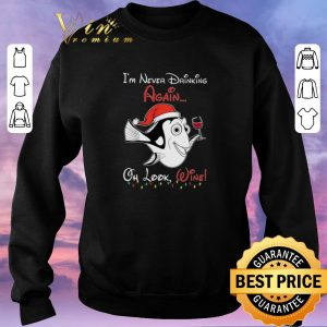 Official Dori Santa i'm never drinking again oh look wine Christmas shirt sweater 2