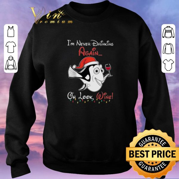 Official Dori Santa i'm never drinking again oh look wine Christmas shirt sweater