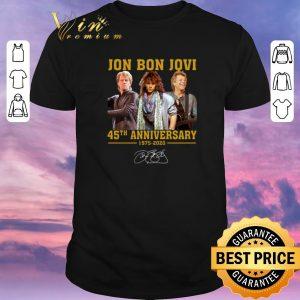 Official Jon Bon Jovi 45th Anniversary 1975 2020 Signature shirt sweater