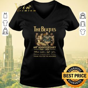 Official Thank you for the memories signed The Beatles 60th anniversary shirt
