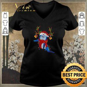 Original Christmas Dolphin Santa reindeer shirt 1