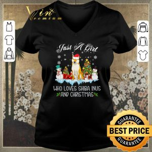 Original Just A Girl Who Loves Shiba Inu And Christmas shirt sweater