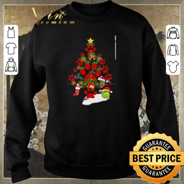 Original Paw dog Christmas tree gift shirt sweater