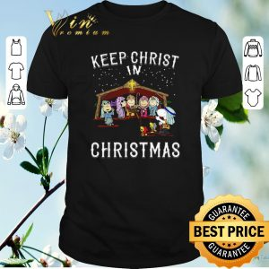 Original Peanuts characters Keep Christ in Christmas Snoopy Charlie Brown shirt sweater
