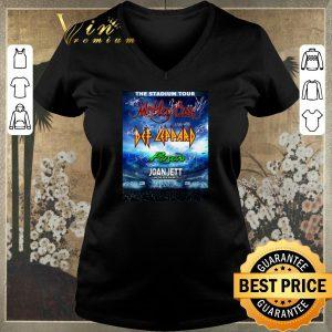 Original The stadium tour Motley Crue Def Leppard Poison Joan Jett signed shirt sweater
