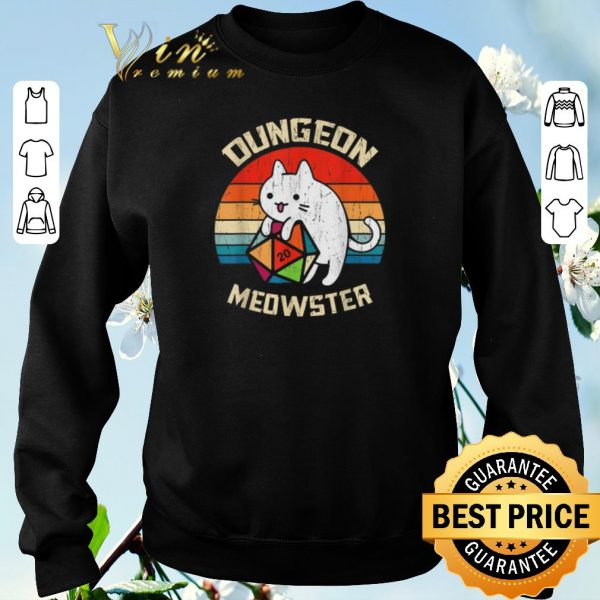 Original Vintage Dungeons & Dragons Meowster Cat D20 shirt
