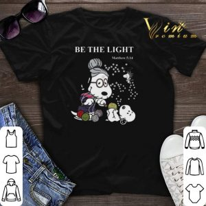 Peanuts Snoopy be the light Matthew 5 14 shirt sweater