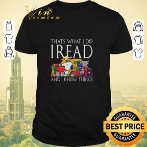 Premium Game Of Thrones Snoopy that's what i do i read and i know things shirt