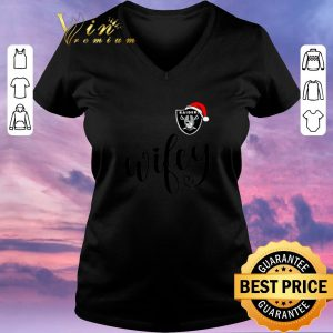 Premium Oakland Raider Santa hat Wifey Christmas shirt sweater