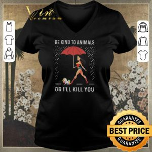 Premium wonder woman unicorn be kind to animals or ill kill you shirt sweater