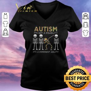 Pretty Autism it's not a disability it's a different dabbing skeleton shirt sweater