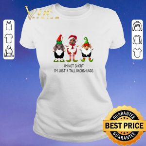 Pretty Christmas Elf i'm not short i'm just a tall dachshunds shirt 1