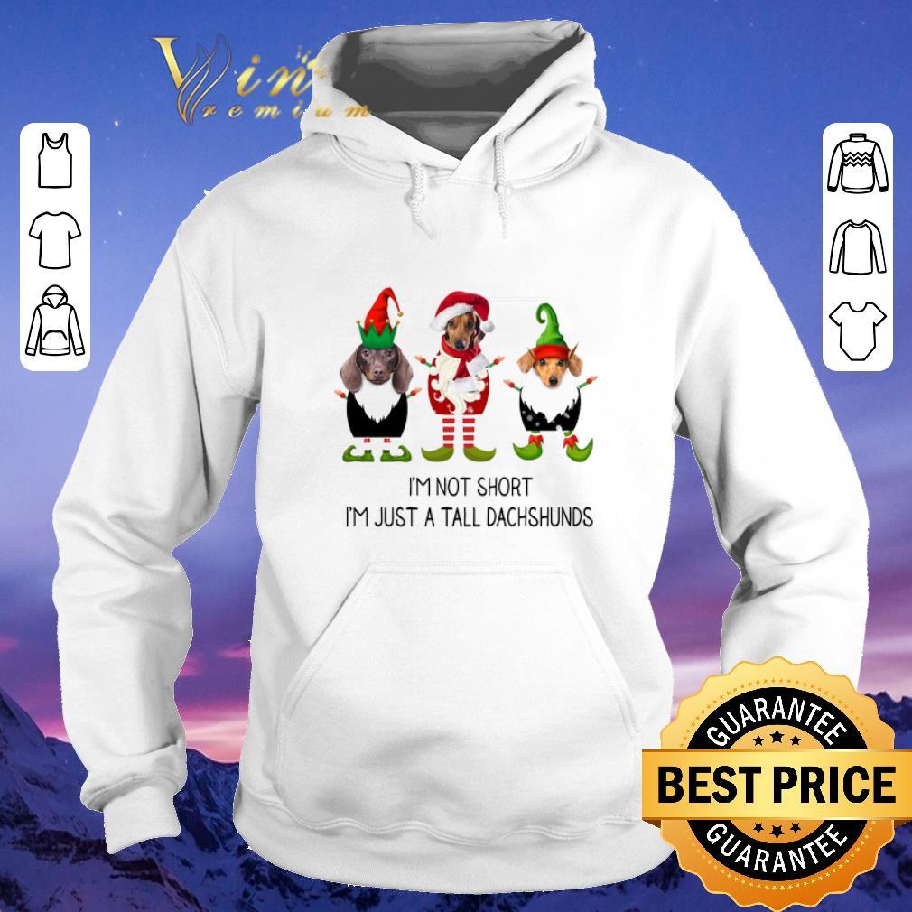 Pretty Christmas Elf i m not short i m just a tall dachshunds shirt 4 - Pretty Christmas Elf i'm not short i'm just a tall dachshunds shirt