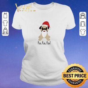 Pretty Christmas Pug dog santa ho ho ho shirt