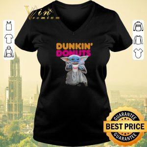 Pretty Star Wars Baby Yoda holding Dunkin Donuts shirt