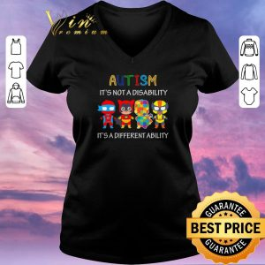 Pretty Superhero Autism it's not a disability it's a different ability shirt sweater
