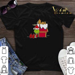 Santa Grinch And Moose Christmas shirt sweater