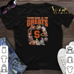 Signature Syracuse Orange all time greats all shirt