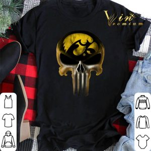 Skull Iowa Hawkeyes The Punisher Mashup NCAA Football shirt sweater