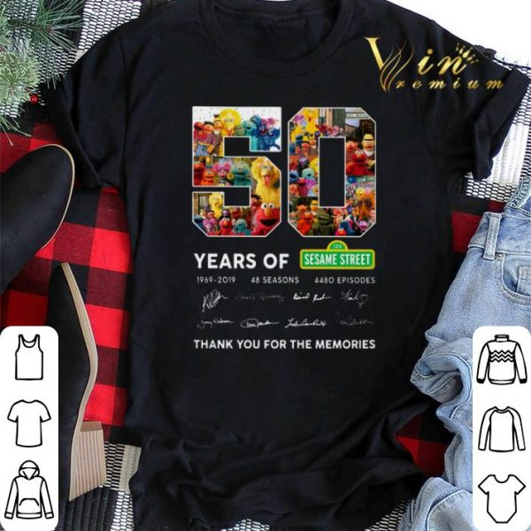 Thank you for the memories 50 years of 123 Sesame Street 1969 2019 shirt
