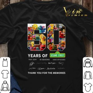 Thank you for the memories 50 years of 123 Sesame Street 1969 2019 shirt 2