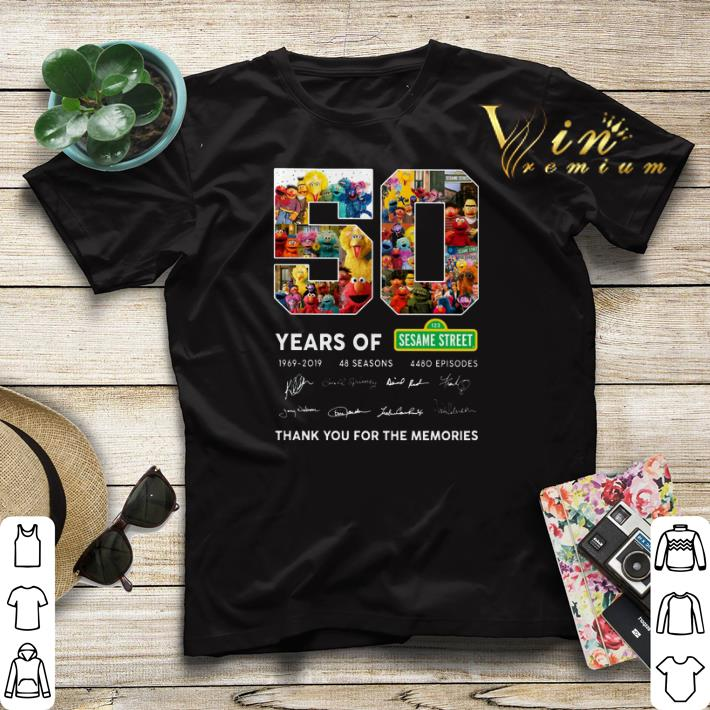 Thank you for the memories 50 years of 123 Sesame Street 1969 2019 shirt 4 - Thank you for the memories 50 years of 123 Sesame Street 1969 2019 shirt