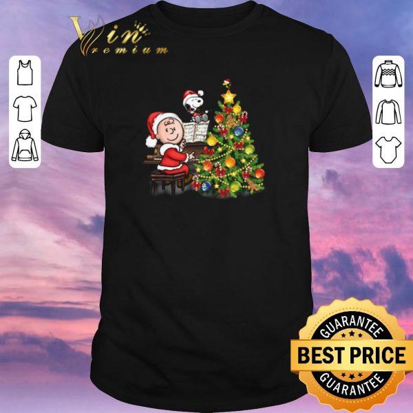 Top Christmas tree Peanuts Snoopy Charlie Brown shirt